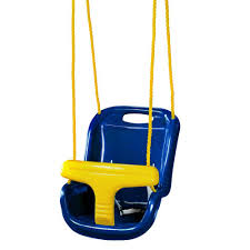 Newborn Swing Chair Gorilla Playsets Blue Infant Swing With High Back 04 0032 B The