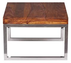 Wohnzimmertisch Metallgestell Finebuy Beistelltisch Massiv Holz Sheesham Wohnzimmer Tisch