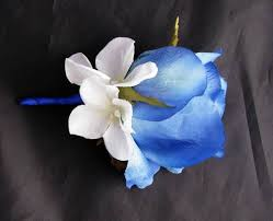 royal blue boutonniere boutonniere silk hydrangea boutroyalrose debbiecoflowers