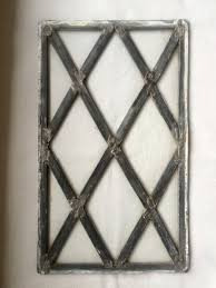 antique paned clear glass leaded window panel english