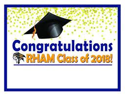 graduation sign rham project graduation