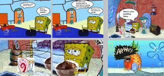 Chocolate Meme Spongebob - spongebob and jenny chocolate pudding by cartoonfanboyone on deviantart