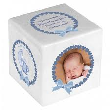 baby urns baby boy color photo block urn in the light urns