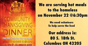 thanksgiving dinner operation feed the hungry columbus central