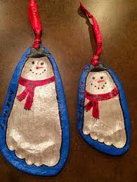 footprint penguin ornament search winter