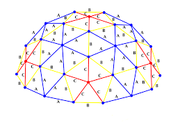 3v 3 8 geodesic dome calculator software in feet and inches for