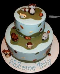 forest friends baby shower cakecentral com