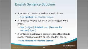 identify sentence pattern english grammar simple sentence structure youtube