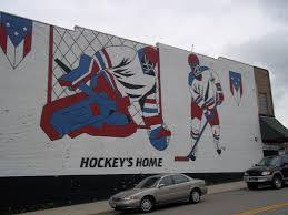 Hockey Wall Mural World S Largest Hockey Stick Puck Eveleth Mn
