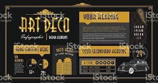 Art Deco Design Elements Art Deco Style Infographic Design Elements Template Stock Vector