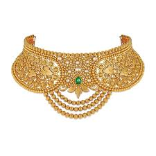 gold choker necklace set images Buy gold choker necklace best gold choker set designs online azva jpg