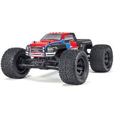 mega truck arrma 1 10 granite voltage mega truck 2wd rtr red black