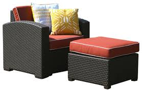 Patio Chair With Hidden Ottoman Outdoor Patio Chairs With Ottomans Modern Patio