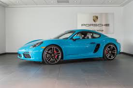 miami blue porsche turbo s 2017 porsche cayman 718 s for sale in colorado springs co 17289