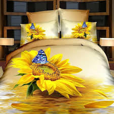 Organic Duvet Cover King Yellow Bed Sheets Butterfly Bedding Floral Quilts Poppy Duvet