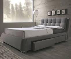 modern upholstered bed frame king bed jonesy mid century modern