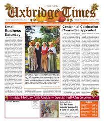 the new uxbridge times november 2015 by the new uxbridge times