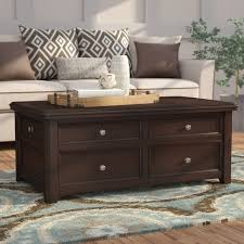 lift top trunk coffee table darby home co hancock trunk coffee table with lift top reviews