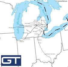 Bay City Michigan Map by Grand Trunk Western Railroad Lantern The Adams U0026 Westlake Co Gtw