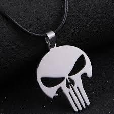 skull pendant necklace images Punisher skull quot pendant necklace blown biker jpg