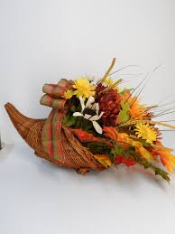 Halloween Gift Basket Ideas by Cornucopia Basket Faux Floral Centerpiece Thanksgiving