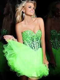 lime green short prom dresses dress yp