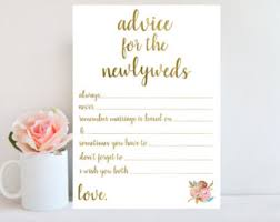 newlywed cards marriage advice etsy