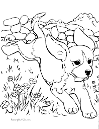 printable free puppies farm coloring pups playing