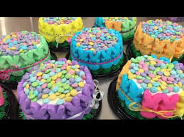 Decorating Easter Cake With Peeps by Easter Peep Cake Youtube