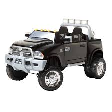 toddler motorized car ram 3500 dually 12v powered ride on black pacific cycle toys