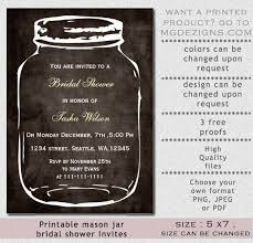 jar bridal shower invitations rustic jar bridal shower invitation diy printables