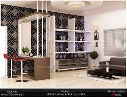 home design evens construction pvt ltd upper living room and bar
