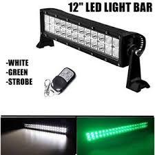 green led light bar 12 hog atv utv jeep road 4x4 strobe