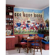 Football Wall Murals by Football Field Wallpaper Room Wallpapersafari
