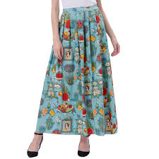 cotton skirts poque hot sale women summer 1950s vintage print cotton skirt