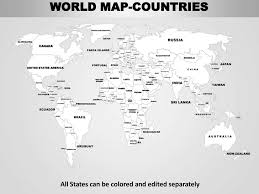 world map black and white with country names pdf world editable continent map with countries