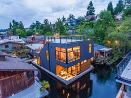 Airbnb Seattle Houseboat Portagebay 5 Seattle Afloat Seattle Houseboats U0026 Floating Homes