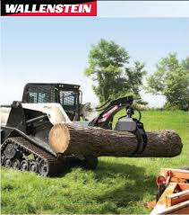 wallenstein lx5300 skidsteer log grapple w hydraulic rotator skid