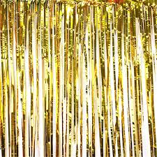 gold backdrop 1 2m hanging metallic gold foil fringe curtain backdrop for