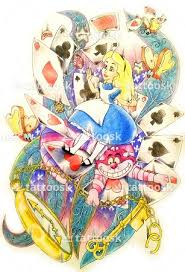 alice in wonderland tattoo upper arm sleeve tattoosk