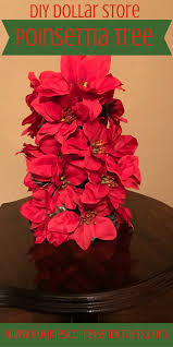 poinsettia tree diy poinsettia tree cookies coffee and crafts