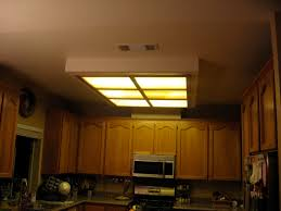 replace fluorescent light fixture in kitchen captivating
