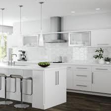 glass kitchen cupboard shelves designer series edgeley assembled 36x30x12 in wall open shelf kitchen cabinet in white
