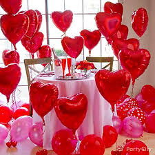 valentines ballons arrange heart balloons around the room at different heights using