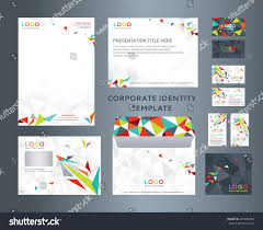 Business Card And Letterhead Design Template Corporate Identity Kit Lowpoly Style Letter Stock Vector 474076900