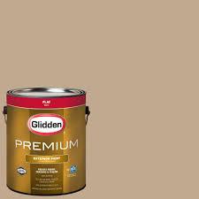 glidden premium 1 gal hdgwn33 camel tan flat latex exterior