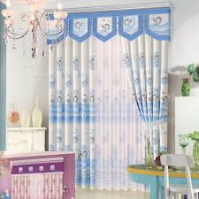 cute dolphin patterns blue curtains for bedroom no valance