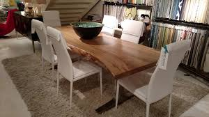 maple dining room furniture spalted maple live edge slab with stainless steel base dining