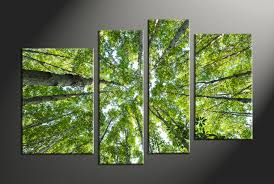 Home Decor Tree by 4 Piece Scenery Green Nature Trees Multi Panel Canvas