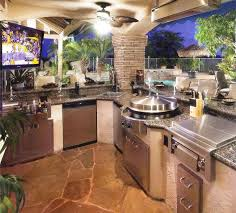 Interior  Covered Outdoor Kitchens With Pool Intended For Lovely - Backyard designs with pool and outdoor kitchen